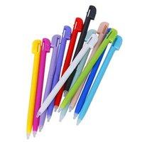 Compra Lápiz óptico para ndsl-Venta al por mayor 12 colores de plástico de la pantalla táctil lápiz óptico para Nintendo 3DS XL para NDSL para NDS NDSI XL Para