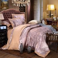 bedding cloth satin - 2016 MECEROCK New Luxury Satin Jacquard Bedding Set Cotton Fabric Europe Style Bed Cloth Flat Sheet Pillowcase Queen King Size