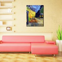 art reproduction van gogh - 1 Picture Combination Cafe Terrace at Night Vincent Van Gogh Artwork Oil Paintings Reproduction Landscape Wall Art for Home Decorations