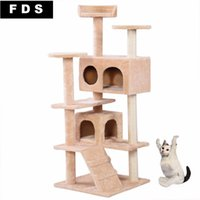 Wholesale New Cat Tree Tower Condo Furniture Scratch Post Kitty Pet House Play Beige PS5791BE