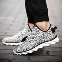 aire b - Hombres diseñador cuña zapatos casuales Casual hombres de algodón transpirable malla exterior Walking aire Superstar entrenadores zapatos