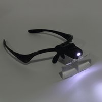 Wholesale 2016 new X Lens Adjustable Loupe Headband Magnifying Glass Magnifier with LED Magnifying Glasses Jeweler Watch Repair