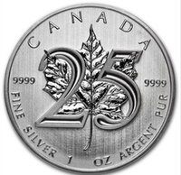 Wholesale 5 Queen Elizabeth II th anniversary leaf silver plated replica Canada souvenir coin gift