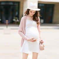 Wholesale Spring Summer Fine Strap Maternity Clothes Slim sling Vest bottoming shirt modal cotton Prop belly Temptation with jacket S30Y