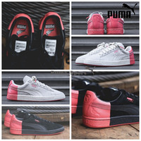 Wholesale Puma Suede x Staple NYC Pigeon Star White Georgia Peach Mens Running Shoes Women Zapatillas Shoes Sport Tennis Shoes Pumas Brand Sneakers