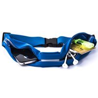 Wholesale New Arrival High Quality Waterproof Black Blue Unisex Outdoor Sports Double Pocket Mobile Phone Waist Bags