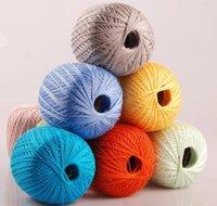 Wholesale 10 Balls Natural Linen Cotton Lace Yarn Knitting Smooth Baby Yarn Creative DIY Cardigan Hangbag Hand Crochet Yarn Thread Colors XN10
