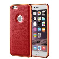 aluminum rates - Samsung Galaxy S6 Edge Apple Iphone S S Plus New Top Selling Best Rated Genuine Leather Back Cover Aluminum Metal Bumper Case Shell