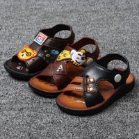 Wholesale 2016 Summer Baby Sandals Shoes Boys Casual Shoes Anti skid Soft Sole Sandals Clogs Kid Children Cartoon First Walkers