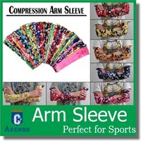Men arm sleeves - 128 colors Baseball Stitches digital camo arm sleeves baseball Outdoor Sport Stretch Arm Sleeve Elbow Extended armband compression sleeve