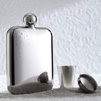 Wholesale high quality Hand made oz mirror finish hip flasks DHL Fedex Fedex