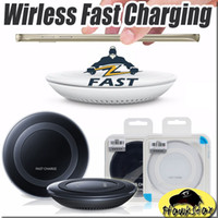 Wholesale For Samsung Original Quality Wireless charger Qi real quick Fast charger pad universal Note note7 S7 S7edge Iphone s Plus with logo