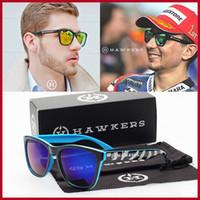 popular sunglasses - 2016 New Fashion Trend HAWKERS Sunglasses Brand Men Women Sunglasses With Case Popular Outdoor Sports Sun Glasses UV400 Oculos De Sol Gafas