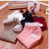 Wholesale Women s Lace short socks Cute Beautiful Cotton Boat Socks New Fashion Hot sell Creative Design