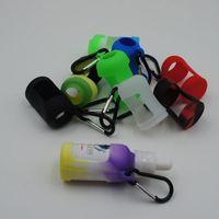 Wholesale Colorful Eliquid Bottles Soft Pouch Silicone Protective case Fit E Liquid ML glass Bottles E Cigarette Rubber Sleeve Protective Cover
