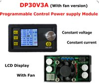 Wholesale 5pcs LCD Digital display DP30V3A Step down Programmable Power Supply Constant Voltage current converter voltmeter with fan