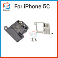 apple units - Earpiece Unit Ear Piece Sound Speaker Set w Metal Cover Plate Bracket Holder Screws Kit Replacement Repair Part For Apple iPhone C