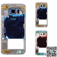 Wholesale Middle Bezel Frame For Samsung Galaxy S6 SM G920V Verizon With Rear Housing Camera Lens Power Volume Button Flex Cable Ribbon