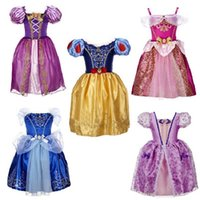 Wholesale 2016 girls clothes baby girl dress Cinderella Dress Cosplay Costume Party Dress Elsa Anna Princess Dress Cinderella Costume