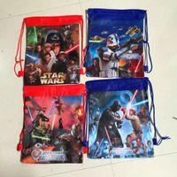 Wholesale Movie Print Backpacks Star Wars The Avengers School Bags Non woven Drawstring Bags Children School Backpacks Cartoon Kids Bags