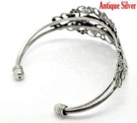 antique gold filigree - Retail Vintage Antique Silver Filigree Flower Bangles Bracelet cm quot sold per pack of bracelet pvc