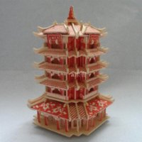 ancient architecture - miniature scale models wooden d puzzle diy simulation model buildings famous promotion ancient chinese architecture toy tower