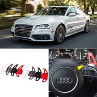Wholesale 2pcs Brand New High Quality Alloy Add On Steering Wheel DSG Paddle Shifters Extension For Audi A7