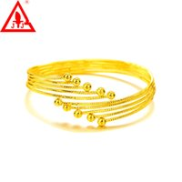 Wholesale 24K Gold Plated Luxury Bangles Copper Hot Sale Fashion Jewelry In European And American New Design Charms