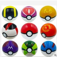 Wholesale Red Poke Ball Figures ABS Anime Action Figures PokeBall Toys Super Master Ball Toys Pokeball Juguetes Pikachu Poke Ball Toys Kids Toys