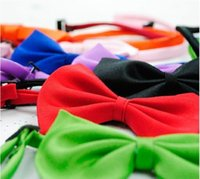 Bandanas, Bows & Accessories Spring/Summer New Year New Fashion Pet Product Most Colors Dog Bow Tie Necklace Dress Cat Puppy Collar Chain Dog Pet Tie 500pcs by DHL