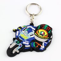 Wholesale Creative Hot Sale Auto Parts Model zinc alloy Motorcycle VR46 knight Keychain Keyring Key Chain Ring Fob