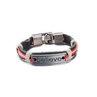 achat en gros de bonne qualité des bracelets en cuir gros-bracelet en cuir bijoux de mode bracelets énergie positive cadeau de Noël de bonne qualité et à bas prix de gros livraison gratuite