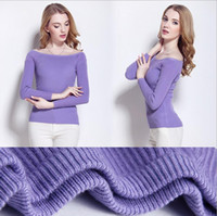 Wholesale autumn and winter wool new europe style sweater shirt boat neck long sleeves for women