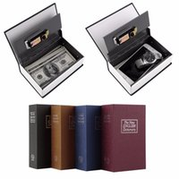 Wholesale Safe Box Simulation Dictionary Style Security Secret Book Case Cash Money Jewelry Storage Box Security Key Lock Size S