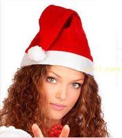 Wholesale 1200Pcs New Christmas Cosplay Hats Thick Ultra Soft Plush Santa Claus hat cm Cute adults Christmas cap Christmas Supplies