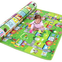 alphabet carpet - 200 x cm Double Sided Patterns Alphabet Fruits Mat Waterproof Carpet Pad Intelligence Toys for Baby Crawling Mat Game Playing Mat