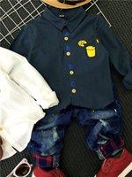 Wholesale 2016 new spring autumn style boy shirt cotton shirt letters show printing multicolor T T