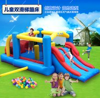 Wholesale Large Outdoor Playground Inflatable Bouncy Castle Jumping Sliding Kids Child Favorite Gonflable Playhouse