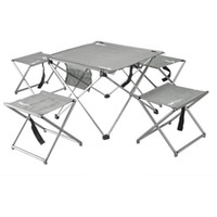 activity table set - 5pcs Aluminum Lightweight Folding Chairs Table Easy Set Up Portable Sturdy New Camping Table and Chairs For Outdoor Activity