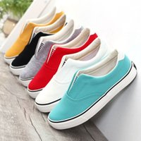 animal pedals - 2016 candy solid color shallow mouth unisex canvas shoes women men casual shoes pedal lovers fashion shoes slip on size