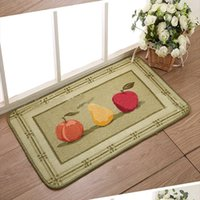 bathroom entry doors - Non Slip Polyacrylonitrile Fiber Door Mats Fruit Print Entry Carpet Rug Bedroom Living Room Bathroom Kitchen Doormat Multicolor