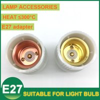 Wholesale E27 Socket LED Pendant Light Lamp Holders Bases Screw Spiral Converter Adapter Bulb Hanging Suspension LED Pendant Lamp Light Bulbs Copper