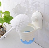 Wholesale Toilet Cleaning Brush Set Wall Mountable Strong Suction Bathroom Accessories95253