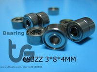 Wholesale 693ZZ Bearing ABEC Metal Sealed Miniature Mini Bearing Z ZZ MM chrome steel ABEC
