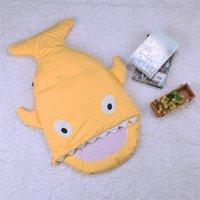 Wholesale Shark Sleeping Bag Newborns Sleeping Bag Winter Strollers Bed Swaddle Blanket Wrap Cute Bedding Baby Sleeping Bag BaBy ZD110A