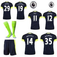 arsenal football socks - 16 Arsenal second away the full set soccer jersey with socks WALCOTT CAZORLA football jersey with socka and league patches