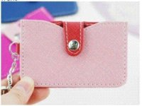 Wholesale TONY Synthetic Leather Metal Key Ring and Credit Card Bag Wallet Colors cm YZ006