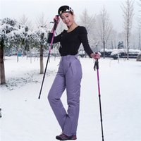 Wholesale Special promotion women and men ski pants windproof waterproof winter warm ski pants outdoor breather pants in stock fast shipping