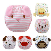 Wholesale Baby Nappies washable learning Pants reusable nappies diapers for children Baby cloth Diapers Cotton training Pants for baby