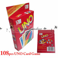 Wholesale Fedex DHL Free new g UNO poker card standard edition family fun entermainment board game Kids funny Puzzle game UNO card board games Z92